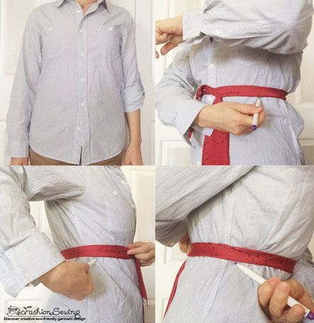 Shirts-Upcycling-With-Pattern--Transform-Men-Shirts-Into-Woman's---EL-marking