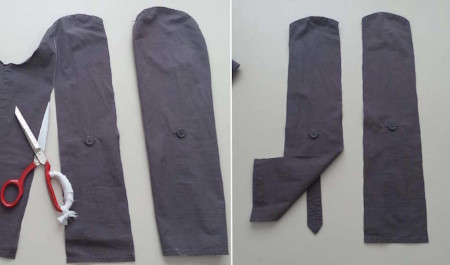 How to upsize a shirt easy - step 2