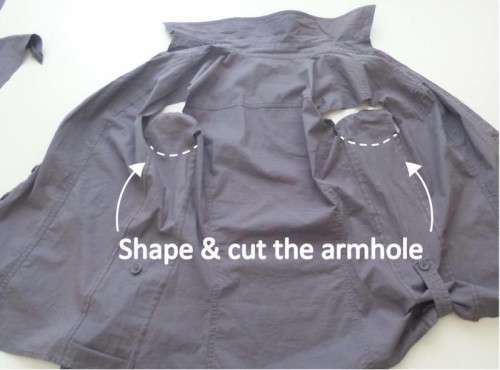 How to upsize a shirt easy - step 4 - step 3