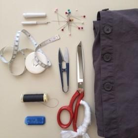 How to upsize a shirt - tools&materials