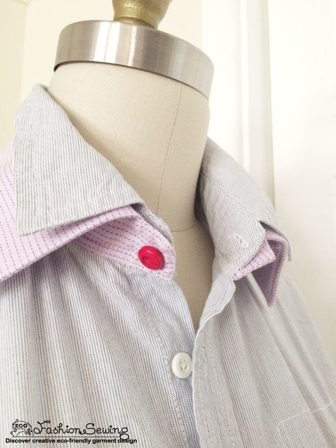 Shirts-Upcycling-With-Pattern--Transform-Men-Shirts-Into-Woman's---collar-detail