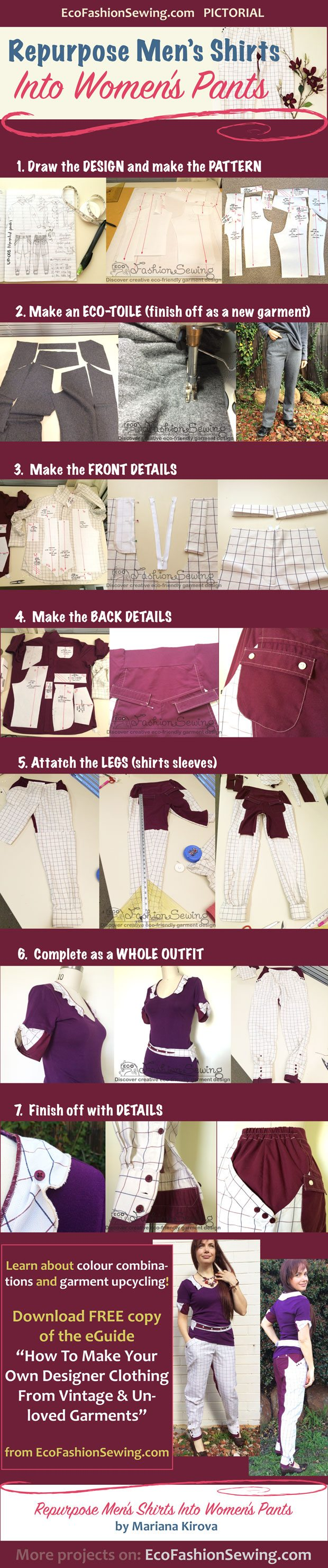 Repurpose-Mens-shirts-into-womens-pants