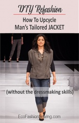 How to ucycle man's tailored jacket